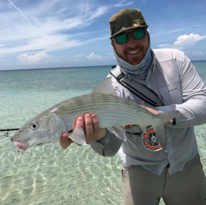 Client with fresh catch